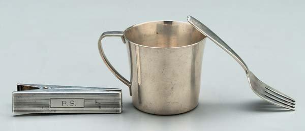 601: Three pieces Tiffany sterling silver:
