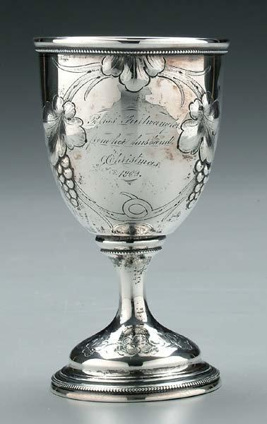 608: Silver goblet,