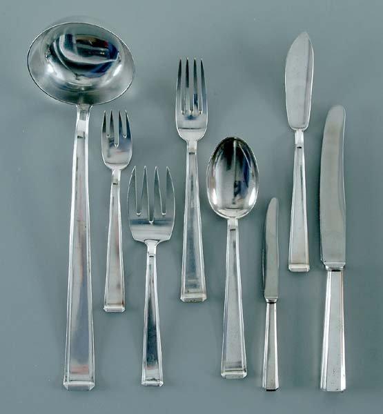 609: .800 German silver flatware,