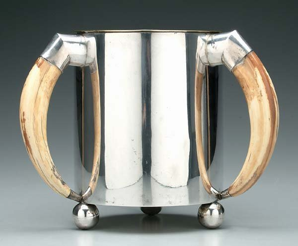 610: German .800 silver cooler/planter,