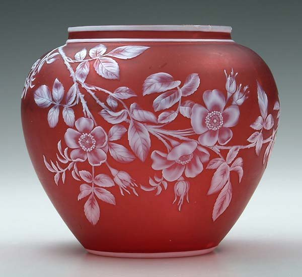 617: Thomas Webb cameo glass vase,