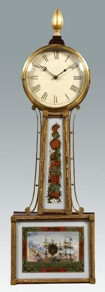 623: Federal banjo clock,