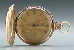 765: English gold pocket watch,