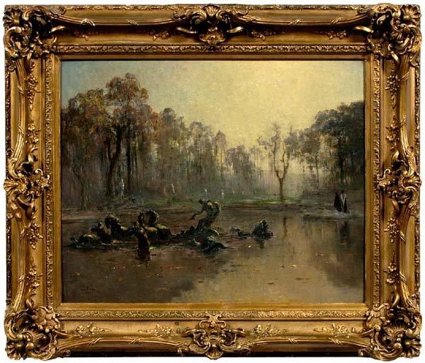 955: Louis-Henri Foreau painting
