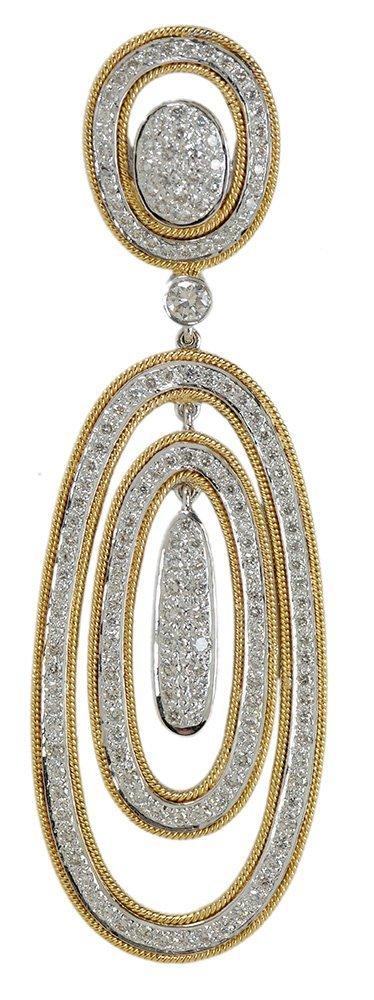 18 Karat Gold and Diamond Slide