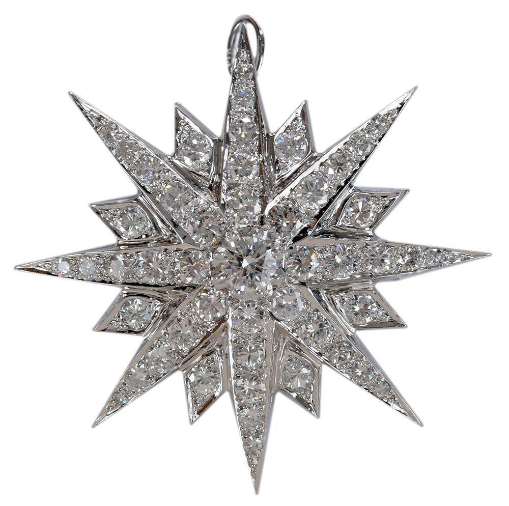 Vintage Diamond Brooch/Pendant
