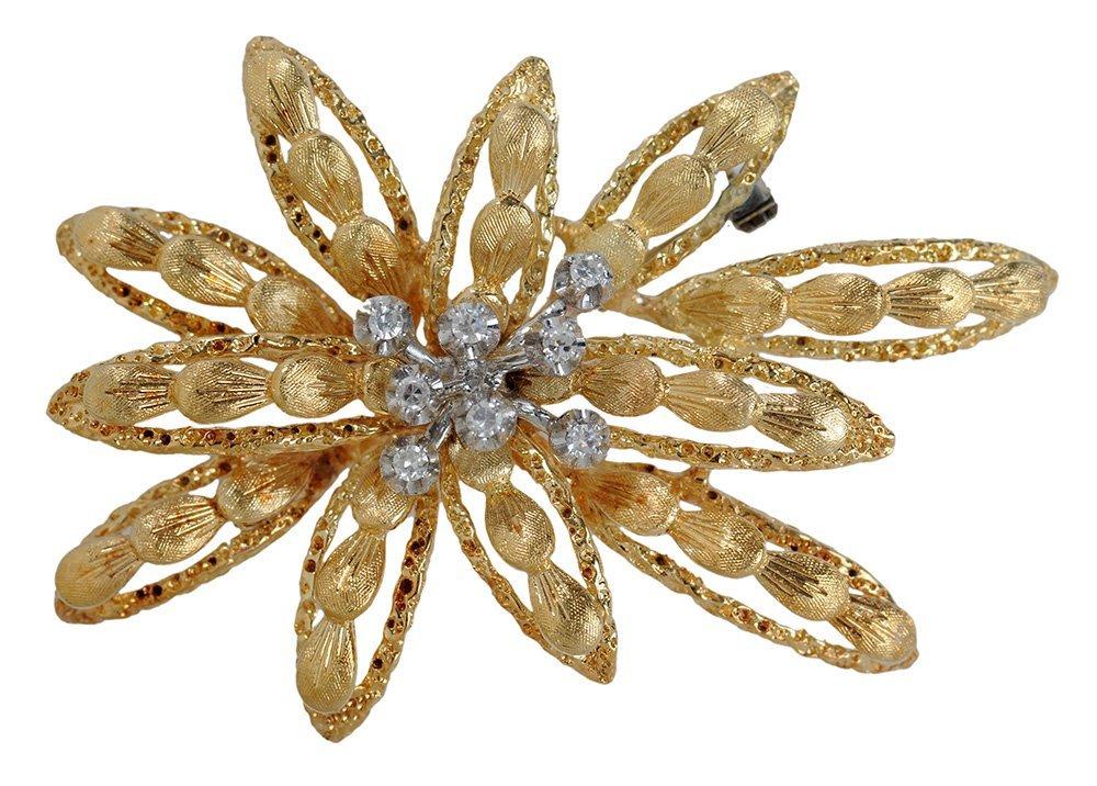 14 Karat Yellow Gold and Diamond