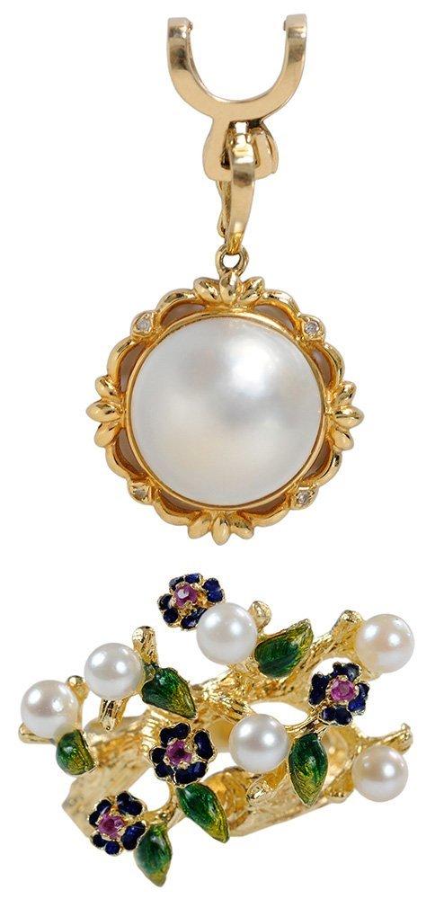 18 Karat Gold and Pearl Ring, Pearl