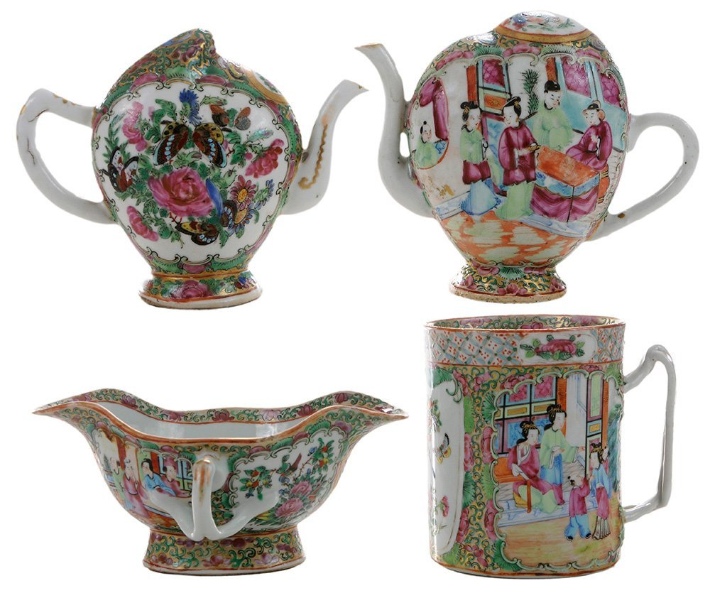 Two Famille Rose Mystery Teapots,
