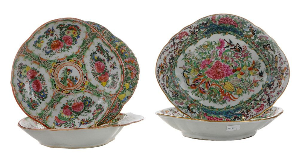 Two Pairs Famille Rose Serving Dishes