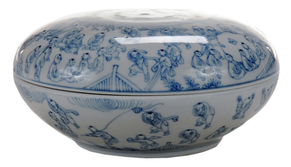 Blue and White Porcelain Covered