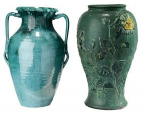 Two Large American Art Pottery Vases