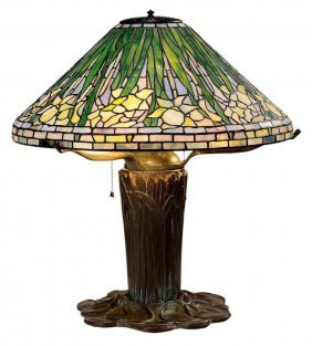 Tiffany Style Leaded Glass And