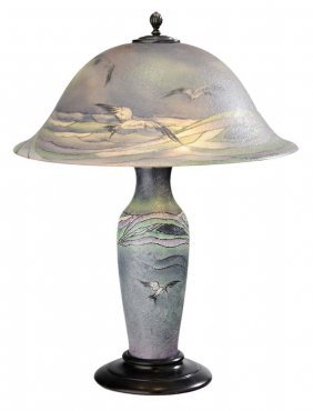Pairpoint Seagull Table Lamp