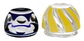 Two Sulphide Paperweights,