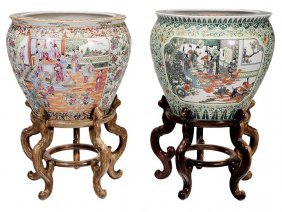 Two Chinese Enamel-decorated Porcelain