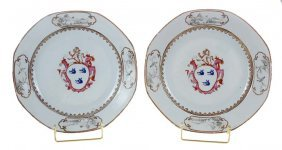 Pair Chinese Export Armorial