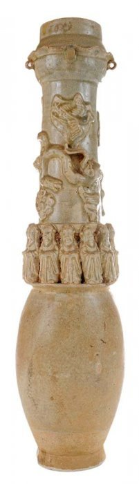 Chinese Ceramic Celadon Funerary Urn