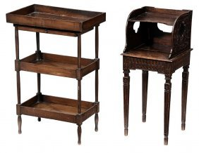 A Provincial Carved Oak Side Table And