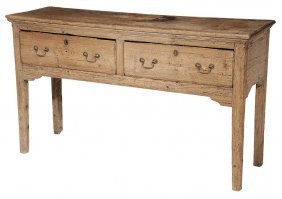 Welsh Pickled Pine Two-drawer Server
