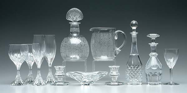 5: Twelve pieces signed Baccarat glass: