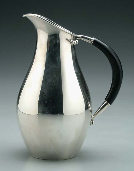9: Jensen-style sterling water pitcher,
