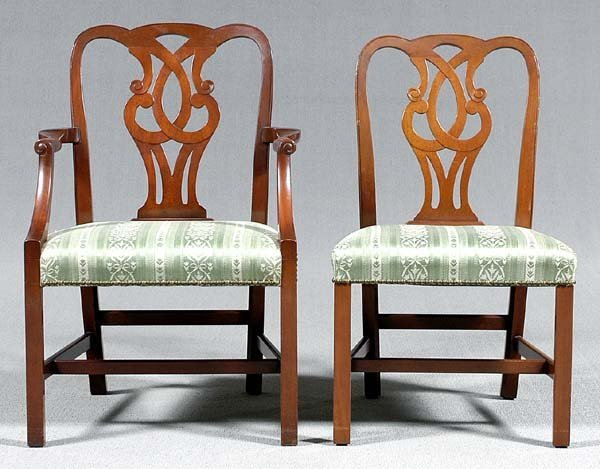 458: Set of 16 Baker Georgian-style chairs: