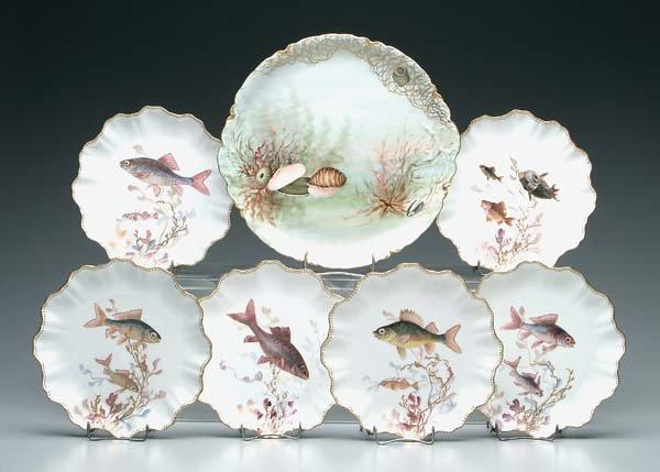 750: Limoges fish platter: