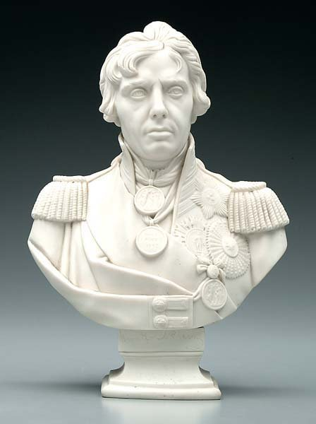 752: Parian ware bust of Admiral Nelson,