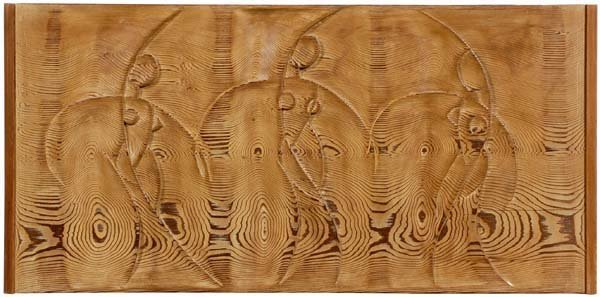 754: Relief-carved panel,