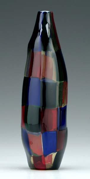 769: Murano checkered vase,