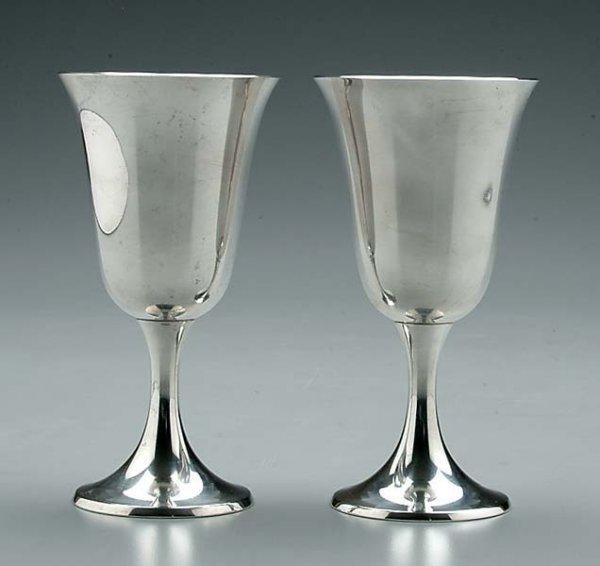 774: Eleven sterling silver goblets: