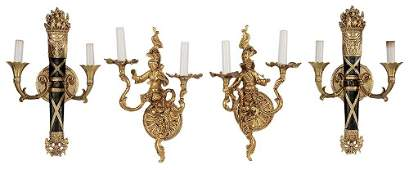 Pair Louis XV Style Wall Sconces and