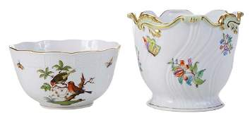 Herend Queen Victoria Cachepot and a