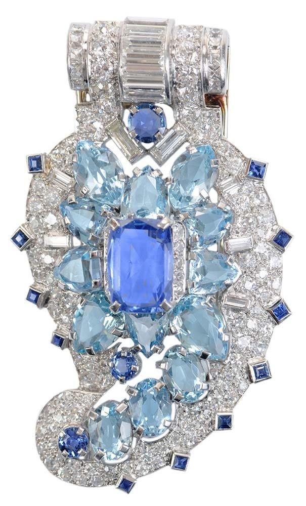 Cartier Platinum, Sapphire and