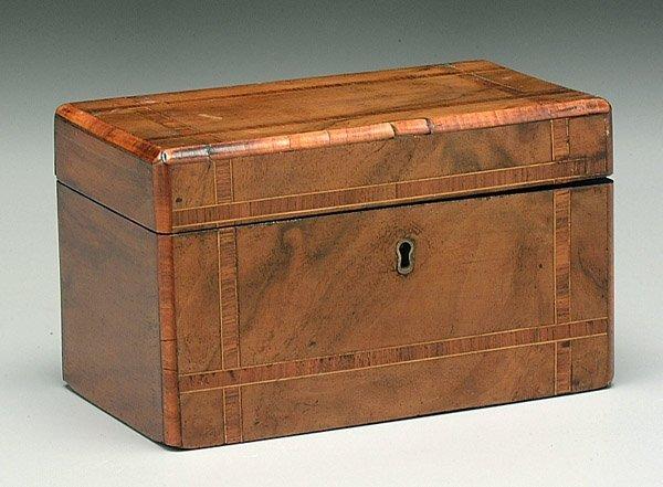 5: Inlaid English tea box,