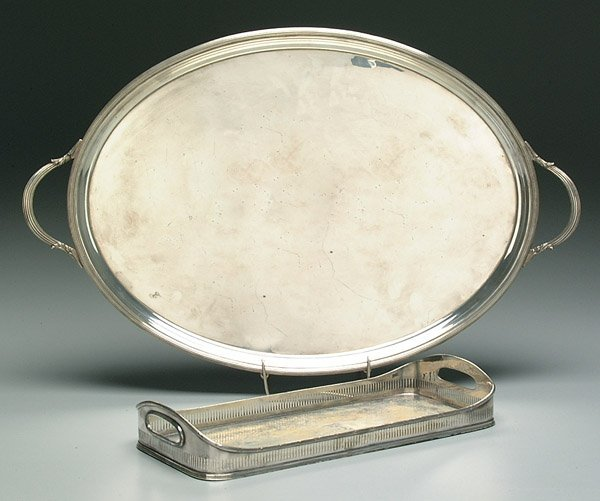 7: Two silver-plated trays:
