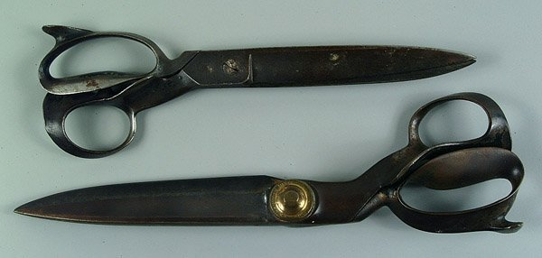 10: Two pairs early iron tailor shears,