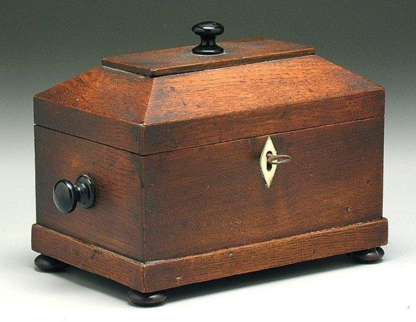 14: Oak tea box,