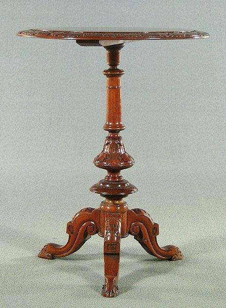 16: Pedestal, top inlaid checkerboard