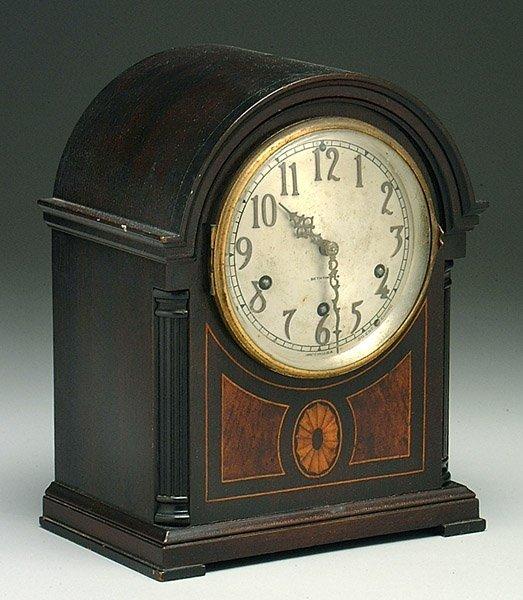 19: Seth Thomas key-wind shelf clock,