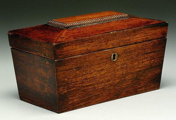 20: Sarcophagus-form tea box,