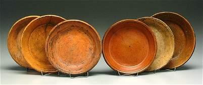 372: Six earthenware shallow bowls,