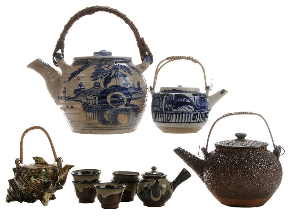Four Teapots and a Small [Sencha] Tea