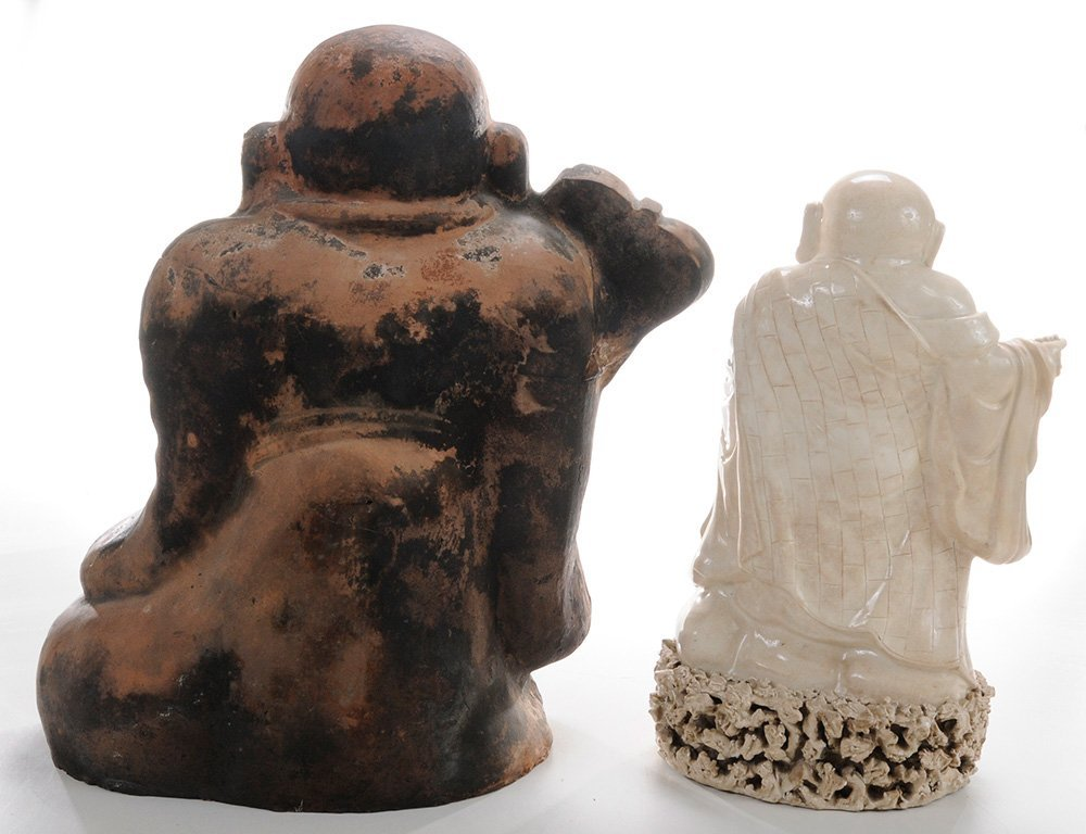 Diverse Group of Five Stoneware Hotei - 3