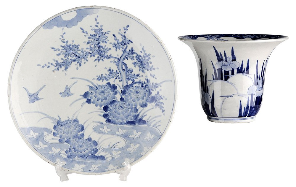 Blue and White Porcelain Charger and