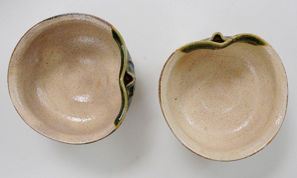 Nine Pieces of [Oribe] Stoneware - 2