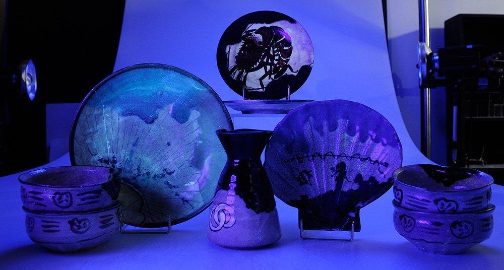 Nine Pieces of [Oribe] Stoneware - 5