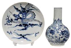 YuanMingStyle Porcelain Plate and