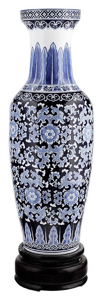 Large Porcelain Blue and White Vase on